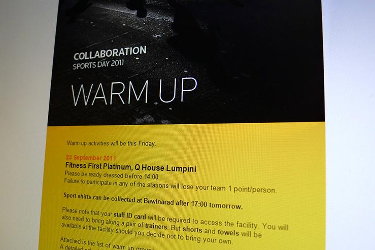 Warm Up Details Mailer