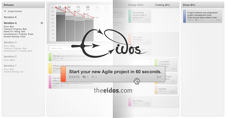 Start your new Agile project in 60 seconds.